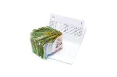 Изолированная банковская книжка на предъявителя сберегательного счета Стоковые Фотографии RF