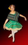 Изолированная балерина Стоковая Фотография
