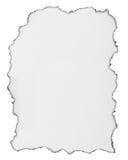 Изолированная белая бумага ожога Стоковые Фотографии RF