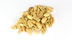 изолированная белизна арахиса Стоковая Фотография