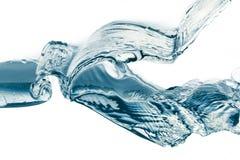изолированная белизна воды выплеска Закройте вверх выплеска формы воды Стоковое Изображение