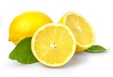 изолированная белизна лимона стоковое изображение