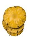 изолированная белизна отрезанная ананасом Стоковое Изображение