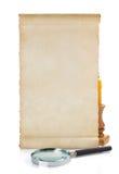 изолированная белизна переченя пергамента Стоковые Изображения RF