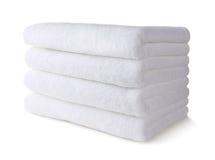 изолированная белизна полотенца Стоковое Изображение RF