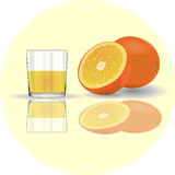 изолированная белизна сока померанцовая Стекло Стоковая Фотография RF