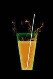 изолированная белизна сока померанцовая стоковые фото
