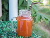 изолированная белизна сока померанцовая Стоковые Фотографии RF