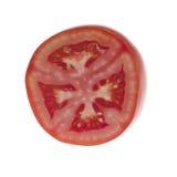 изолированная белизна томата ломтика Стоковые Фотографии RF