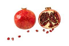 изолированная белизна pomegranate Стоковые Фото