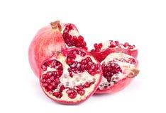 изолированная белизна pomegranate Стоковое Изображение RF