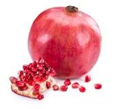 изолированная белизна pomegranate Стоковые Изображения RF