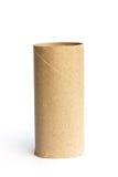 изолированная бумажная белизна крена Стоковое Изображение RF