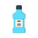 Изолированная бутылка Mouthwash Стоковое фото RF