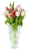 Изолированная ваза тюльпанов букета Стоковые Изображения RF