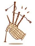 Изолированная волынка Стоковые Фотографии RF