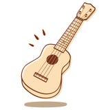 Изолированная гавайская гитара Стоковое Фото