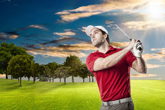 изолированная гольфом студия съемки игрока Стоковое Изображение