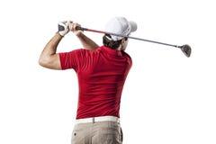 изолированная гольфом студия съемки игрока Стоковое фото RF