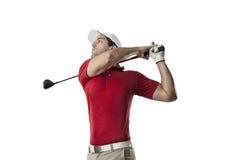 изолированная гольфом студия съемки игрока Стоковые Изображения RF