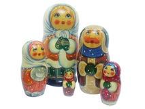 Изолированная группа в составе русская кукла Стоковые Изображения RF