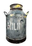 Изолированная деревенская маслобойка молока стоковая фотография