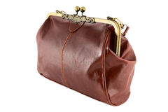 Изолированная женская ретро сумка Стоковое Изображение