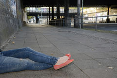 изолированная женщина ног белая Стоковая Фотография