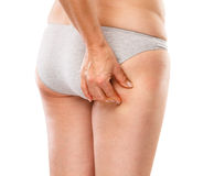 изолированная женщина ног белая Стоковое фото RF