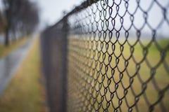 Изолированная загородка во время предпосылки падения Стоковое Изображение