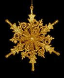 Изолированная звезда снежинки золота Стоковое Фото
