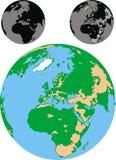 Изолированная земля Стоковые Фото