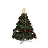 Изолированная зеленая рождественская елка Стоковое фото RF