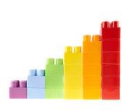 Изолированная диаграмма диаграммы в виде вертикальных полос Стоковые Фото