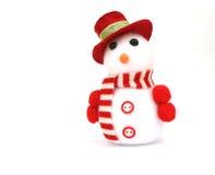 Изолированная игрушка снеговика Стоковые Изображения RF