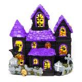 Изолированная игрушка хеллоуина погоста дома призрака Стоковое Изображение RF