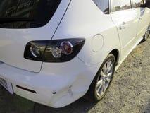 изолированная иллюстрация автомобиля аварии 3d представила белизну Стоковое Фото