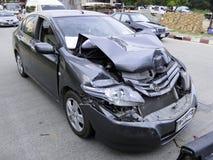 изолированная иллюстрация автомобиля аварии 3d представила белизну Стоковая Фотография RF