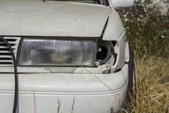 изолированная иллюстрация автомобиля аварии 3d представила белизну Стоковые Изображения RF
