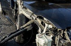 изолированная иллюстрация автомобиля аварии 3d представила белизну Стоковые Фотографии RF