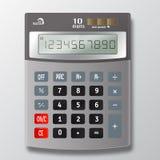 Изолированная иллюстрация вектора электронного калькулятора Стоковое Изображение RF