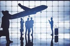 изолированная иллюстрация глобуса принципиальной схемы предпосылки самолета surranded перемещая белизна Стоковые Изображения RF