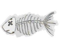 Косточки рыб шаржа Стоковое фото RF
