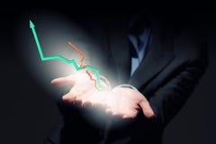 изолированная иллюстрация роста принципиальной схемы предпосылки 3d представила белизну Стоковое Фото