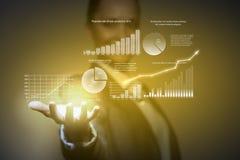 изолированная иллюстрация роста принципиальной схемы предпосылки 3d представила белизну Стоковые Фото