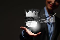 изолированная иллюстрация роста принципиальной схемы предпосылки 3d представила белизну Стоковое фото RF