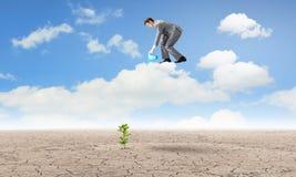изолированная иллюстрация роста принципиальной схемы предпосылки 3d представила белизну Стоковая Фотография