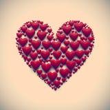 изолированная иллюстрация сердца 3D - Стоковое Изображение RF