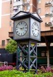 изолированная иллюстрация часов 3d представила белизну Стоковые Изображения