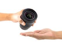 изолированная камерой белизна объектива Стоковые Изображения RF